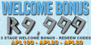 Apollo Slots offers a R9'999 Welcome Bonus